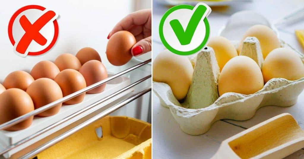 как нужно хранить яйца